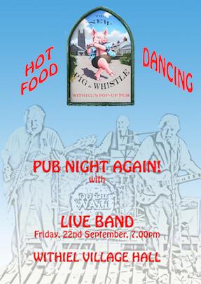 Withiel Pub Night – LIVE MUSIC – 22nd Sept